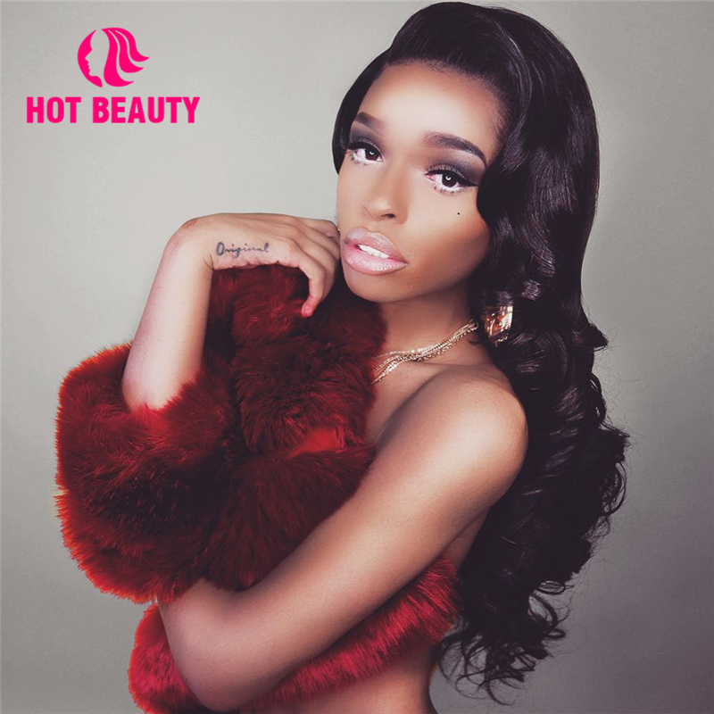 Hot Beauty Hair Body Wave 360 Lace Wig With Bundles Brazilian Remy Hair Pre Plucked Very Full 100% Human Hair Wig With Baby Hair