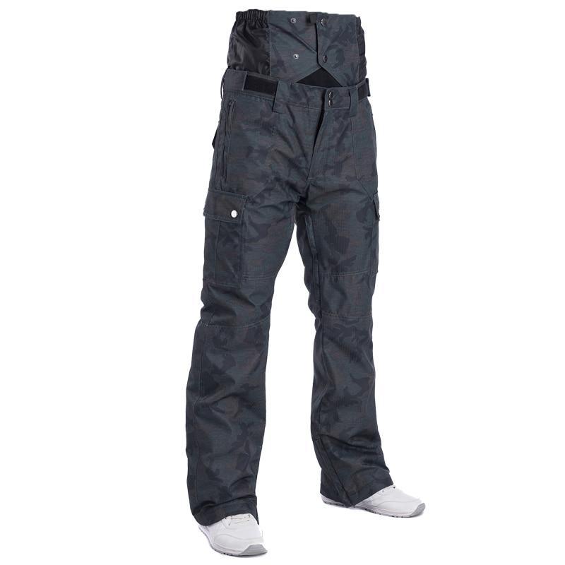 2018 Hiver Taille Haute Pantalon de Ski Hommes Coupe-Vent Imperméable Thermique Homme de Neige Pantalon Bib Jarretelles Mâle Snowboard Pantalon Vêtements de Ski - 5