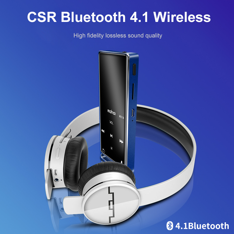 Mahdi M210 lecteur Mp3 Bluetooth ecran tactile 1.8 pouces Portable sport USB HD HIFI lecteur de musique 16 GB Support TF carte Ultra-mince - 2