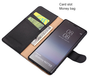 Image 3 - Lichee Pattern Leather Flip Cover Case For Samsung Galaxy Note 8 Note8 Deluxe Luxury Wallet inner TPU