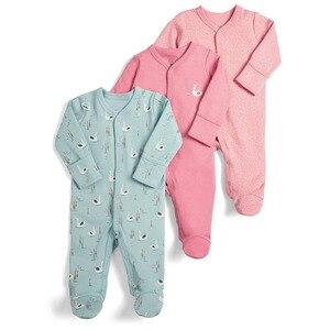 Image 5 - Bebê menina/menino macacão bebê 3 em 1 flor recém nascido roupas do bebê recém nascido macacão infantil primavera/outono/inverno pijamas