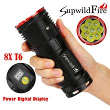 Promo offer 2017 NEW FREE SHIPPING Supwildfire 16000LM 7 x XM-L T6 LED Power & Mode Digital Display Flashlight N3