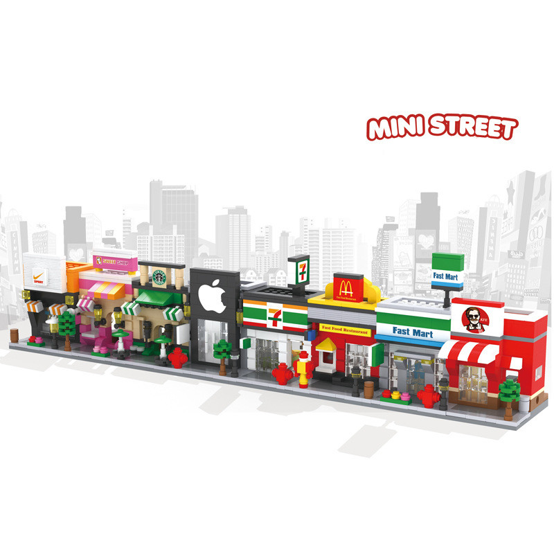1pcs New Hsanhe Scene Mini Building Blocks Toys Arcs