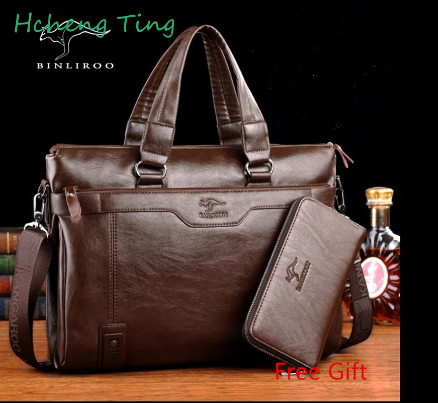 Leather Men's Messenger Bag Business Men Shoulder Crossbody Bags Handbag Of Famous Design Bolsas Briefcase