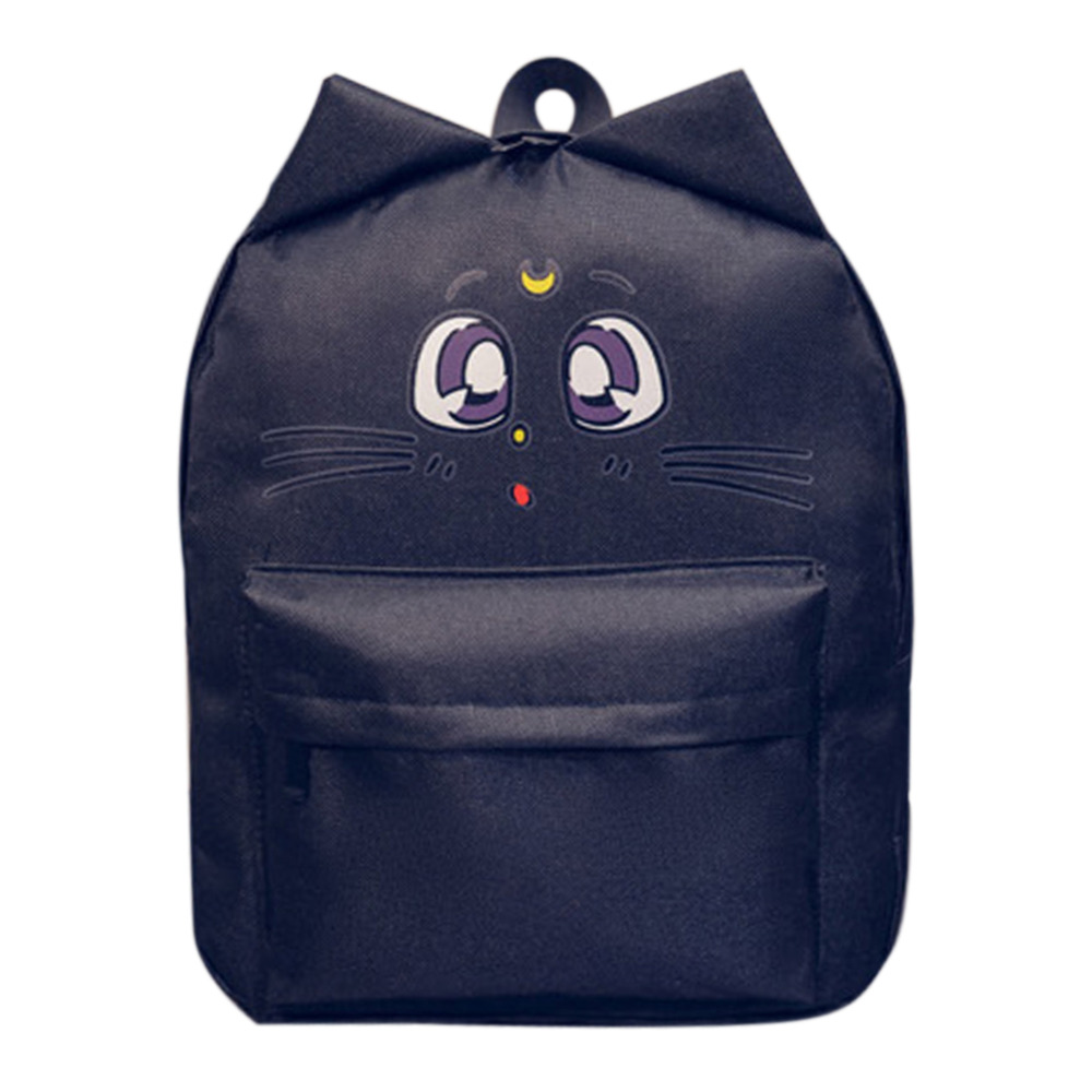 Lovely Student Style Backpack Sailor Moon Canvas Backpack Cute Cat Shoulder Bag School Bags For Teenager kawaii lolita bag sailor moon cardcaptor sakura magical girl clow card backpack cute school bags for teenager girls book bag