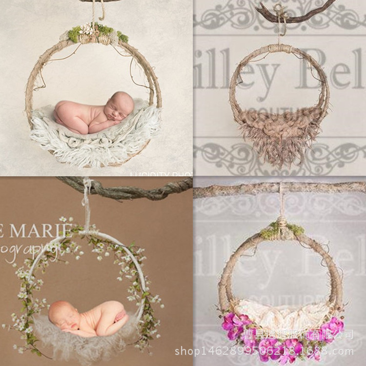 newborn Photography Props Iron Hanging Basket Box Decoration Fotografia Accessories Infantil Toddler Studio Shooting Photo Props dvotinst baby photography props flowers hanging basket decoration fotografia accessories infant toddler studio shooting photo