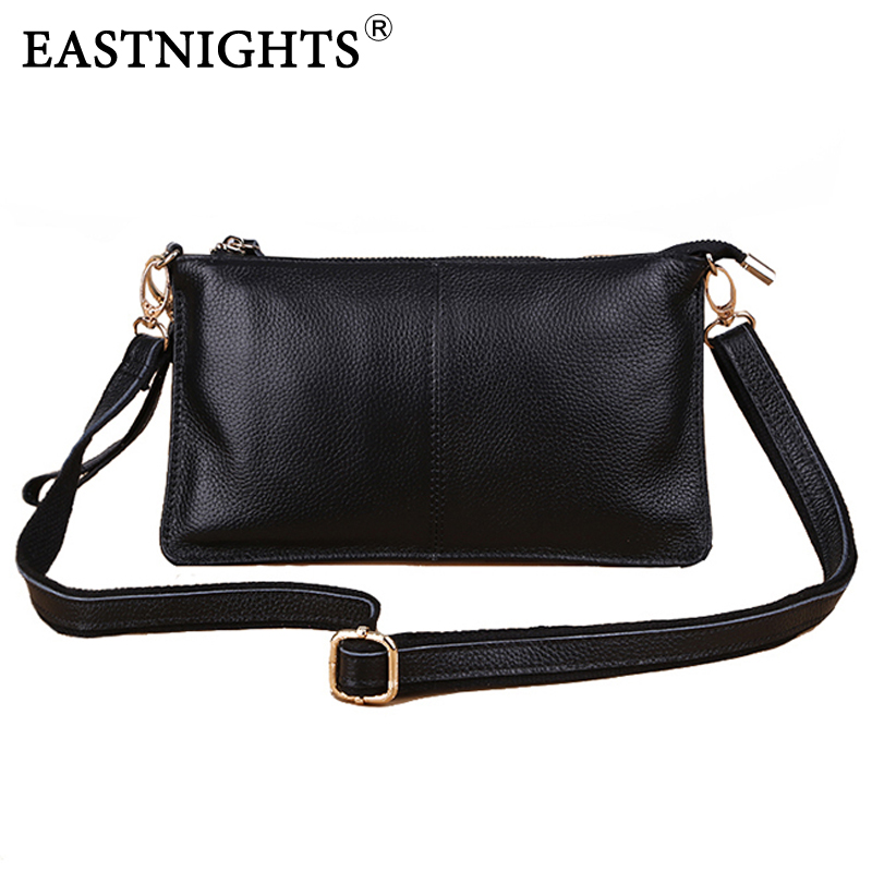 EASTNIGHTS new Women Handbag Canvas Female Bag Clutch Genuine Leather Handbag Ladies Fashion Small Shoulder Messenger Bags HB022