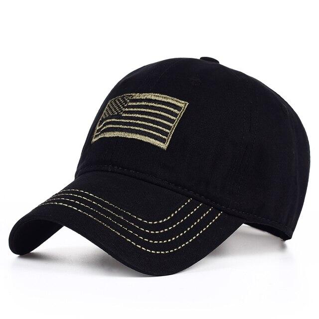 116dfea70e896 2017 Nuevo algodón lavado bordado bandera americana gorra de béisbol  hombres mujeres snapback al aire libre