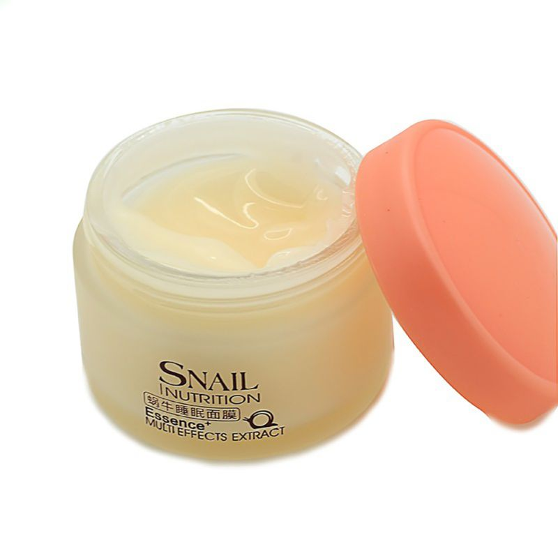 75g Snail Sleeping Mask Essence Moisturizing Night Cream Anti Aging Wrinkle Cream as shown 3