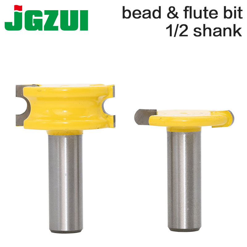 """2 db 1/2 """"-es szár 12 mm-es szár kenu fuvola és gyöngy útválasztó Bit favágó famegmunkáló vágó famegmunkáló bit fa maró"""