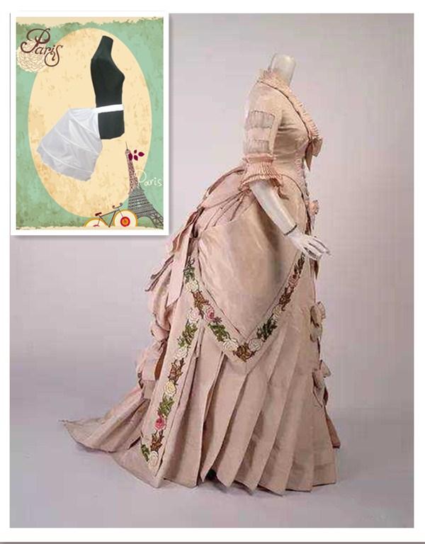 45 Victorian Petticoat Crinoline Underskirt Women Rococo Dress White Cage Frame Pannier Bustle Petticoat Buttock