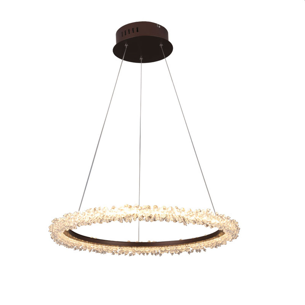 Bref conception LED lustre en cristal moderne hanglamp AC110V 220 v lustre cristal salon salle à manger lumières