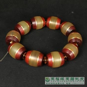 Tibet GOLD BRACELET HANDMADE natural yak yak horn hand String Bracelet