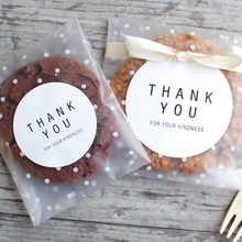 Transparent Plastic Candy Cookie Gift Bag DIY Party Supplies Wedding Birthday Package Handmade Stickers Tag Decor