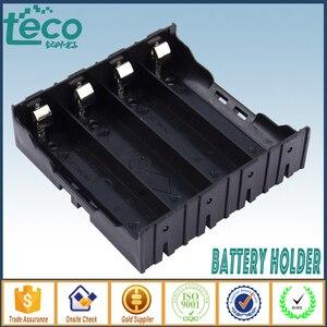 Image 2 - 4 sztuk/partia 18650 uchwyt baterii czarny plastik 4x3.7 V 18650 baterie 8 Pin TBH 18650 4A P