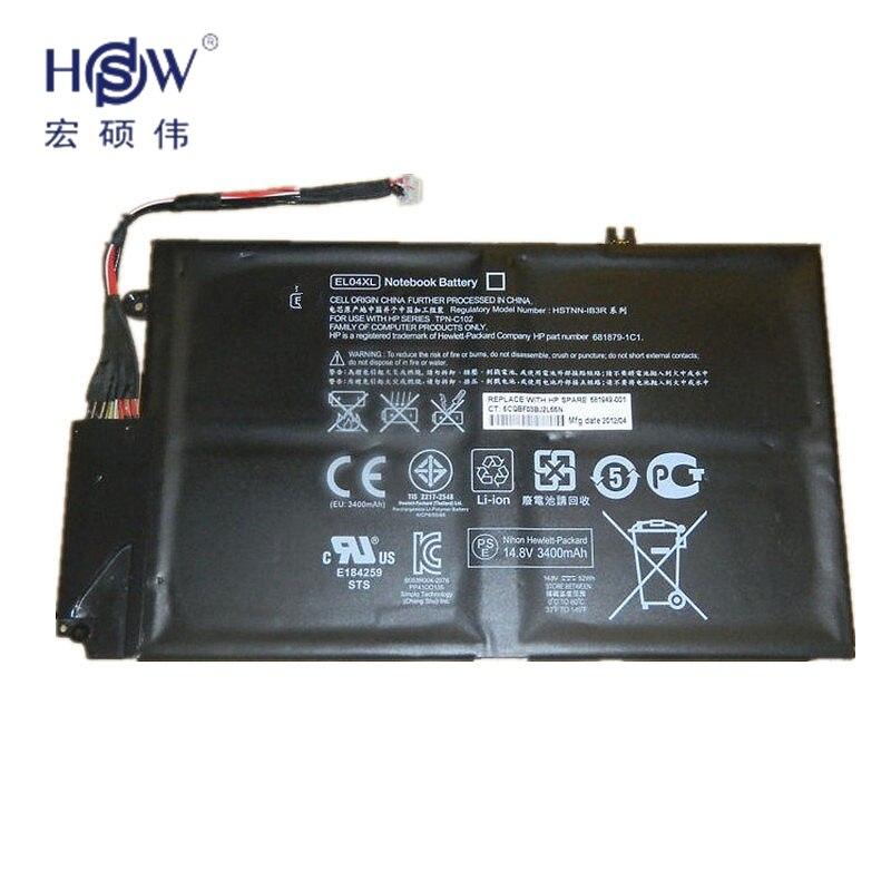 NEW Original Battery EL04XL ,HSTNN-IB3R/UB3R ,TPN-C102 ,681879-1C1 ,681879-171 for HP Envy TouchSmart 4-1000 X9-55 batteria akku