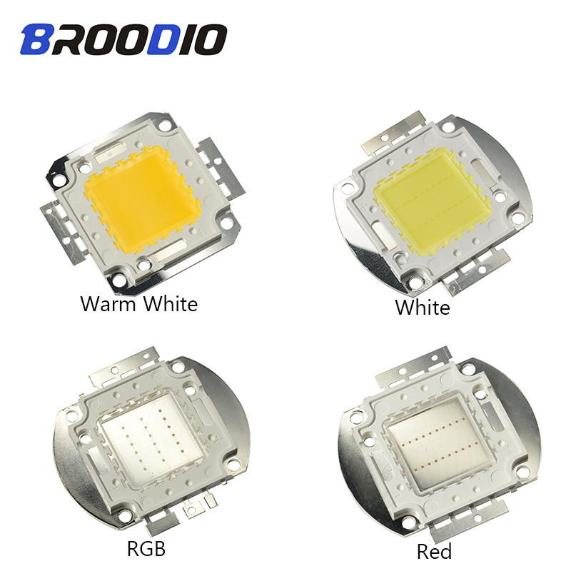Led Cob Lighting Bulb High Power Chip 20w30w50w100w Lamp Warm White Deep Red Green Blue Rgb Full Specturm Flood Light Matrix Diy