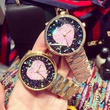 Luxury Stainless Steel Ladies Wristwatch Women Female Dress Quartz Watch Rose Gold Rhinostone Sparkling Shining Watches