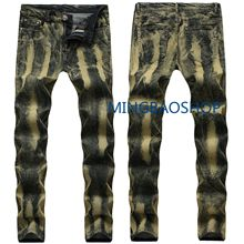 Designer jeans men high quality mens pants trendy gold costumes vintage clothing skinny brand