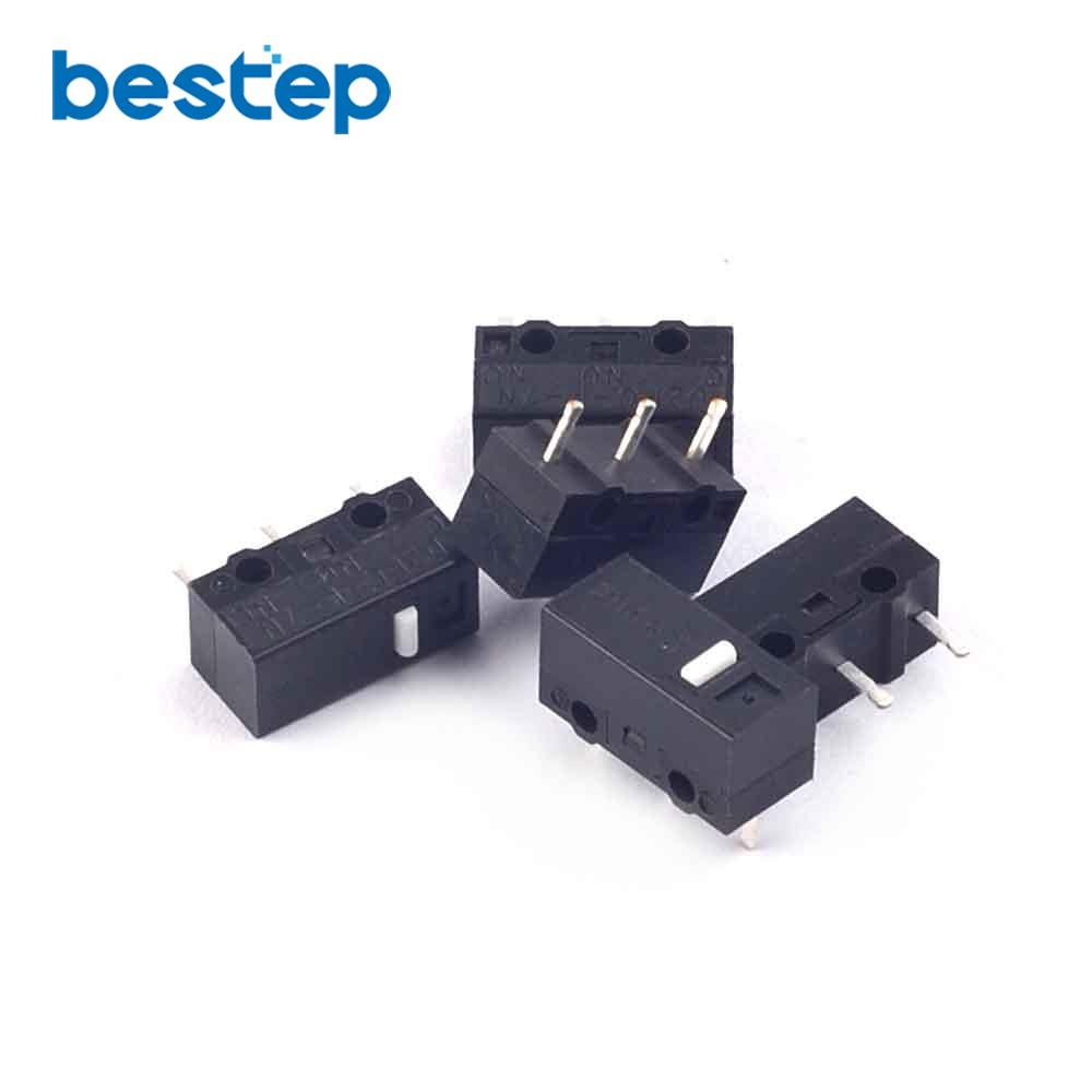 5PCS Switch D2FC-F-7N Special Mouse Micro Switch 3 Feet Sessile Mouse Button