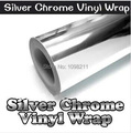 "100mm x 1520mm silver Chrome Air Bubble Free Mirror Vinyl  Wrap Film Sticker Sheet emblem 4""x60"" Car Bike Motor Body Cover"