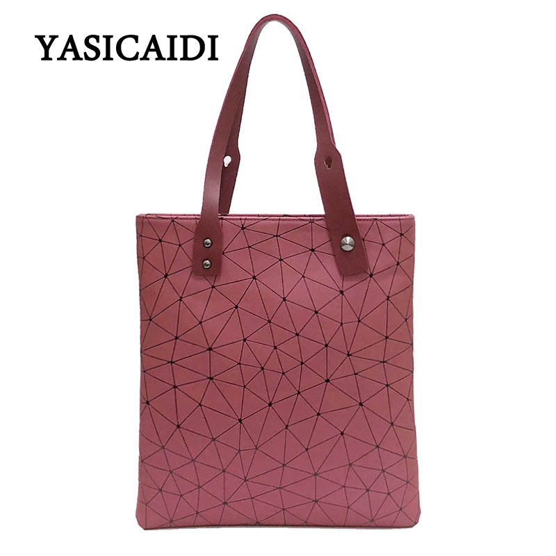 Summer casual handbag PU leather Women hand Bags Geometric Handbag ladies Famous Brands Shoulder Bags Bucket bag