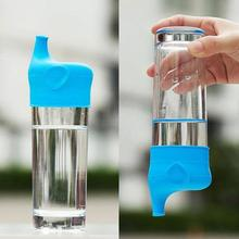 Сопло на присоске в форме слона, крышка для бутылки с мягкой водой, кружка для бутылки с напитком, колпачки с защитой от протекания, Мягкий си...