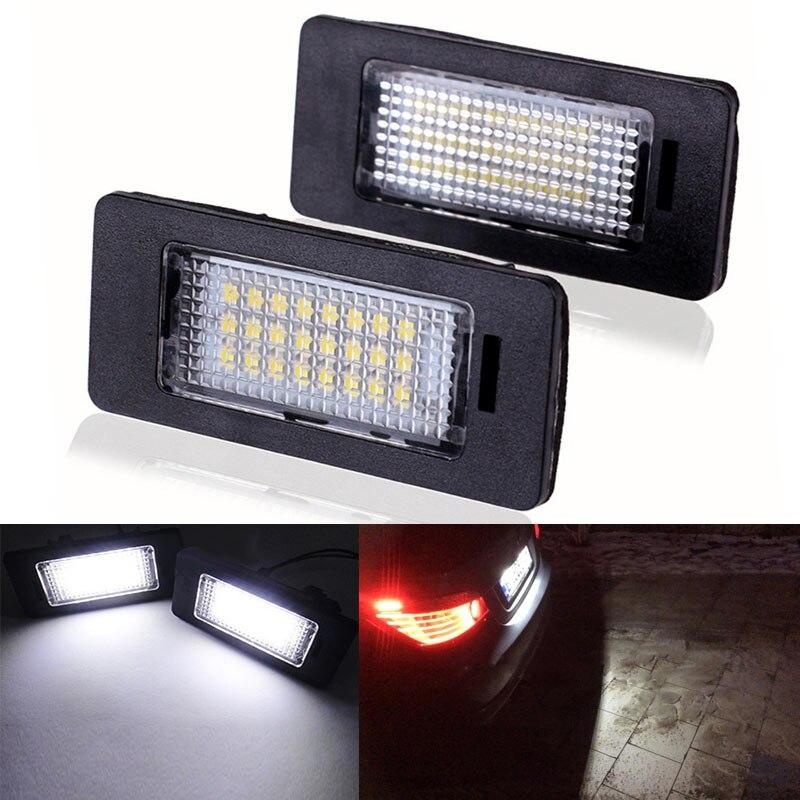 Do Promotion! 2 Pcs/Set Car Trunk LED License Plate Lights 24 Leds Lamp for W E39 E60 E90 X Series 2017