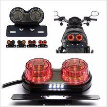 Универсальный индивидуальный задний светильник для мотоцикла и держатель номерного знака, тормозной сигнал поворота, стоп-светильник s для мотора Kawasaki Triumph