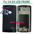 1/pcs preto para lg g4 display lcd com tela de toque digitador assembléia com frame + ferramentas frete grátis