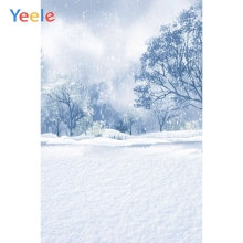 Yeele White Snow Photographic Backgrounds Scenery Portrait Christmas Winter Frozen Photography Backdrops For The Photo Studio kate winter backdrops photography ice snow tree scenery photo shoot white forest world backdrops for photo studio
