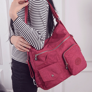 Image 5 - JINQIAOER New Waterproof Women Bag Double Shoulder Bag Designer Handbags High Quality Nylon Female Handbag bolsas sac a main