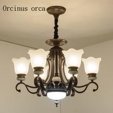 American European style living room chandelier iron hall bedroom lighting Jane Nordic Restaurant