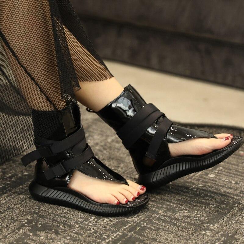 [EAM] 2019 nueva primavera verano Pu cuero negro hueco hebilla personalidad mujeres accesorios moda todo-fósforo JW278 - 2