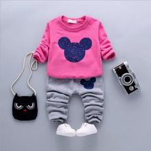 4-24M 2016 Autumn Children Infant Baby Girl Clothing Set Baby Boy Outfits Toddler Girl Suits Track suit Kids Boy Clothes 2 pcs