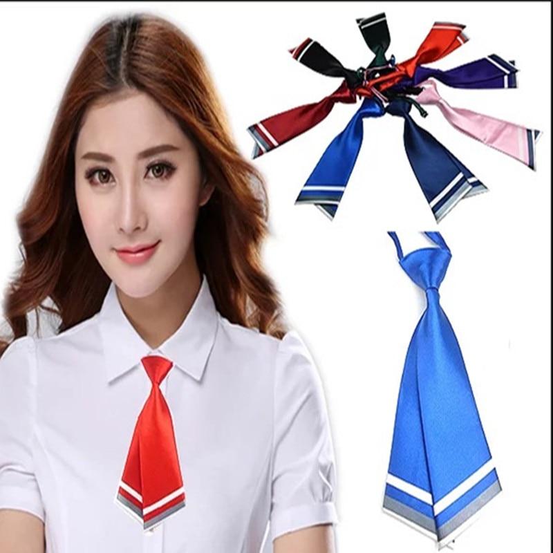 Women's Ties & Handkerchiefs 10pc/lot Women Necktie For Sailor Suit Shirt Zipper Bowtie Jk Style Lovely Bow Tie School Uniform Stundet Butterfly Black Sturdy Construction