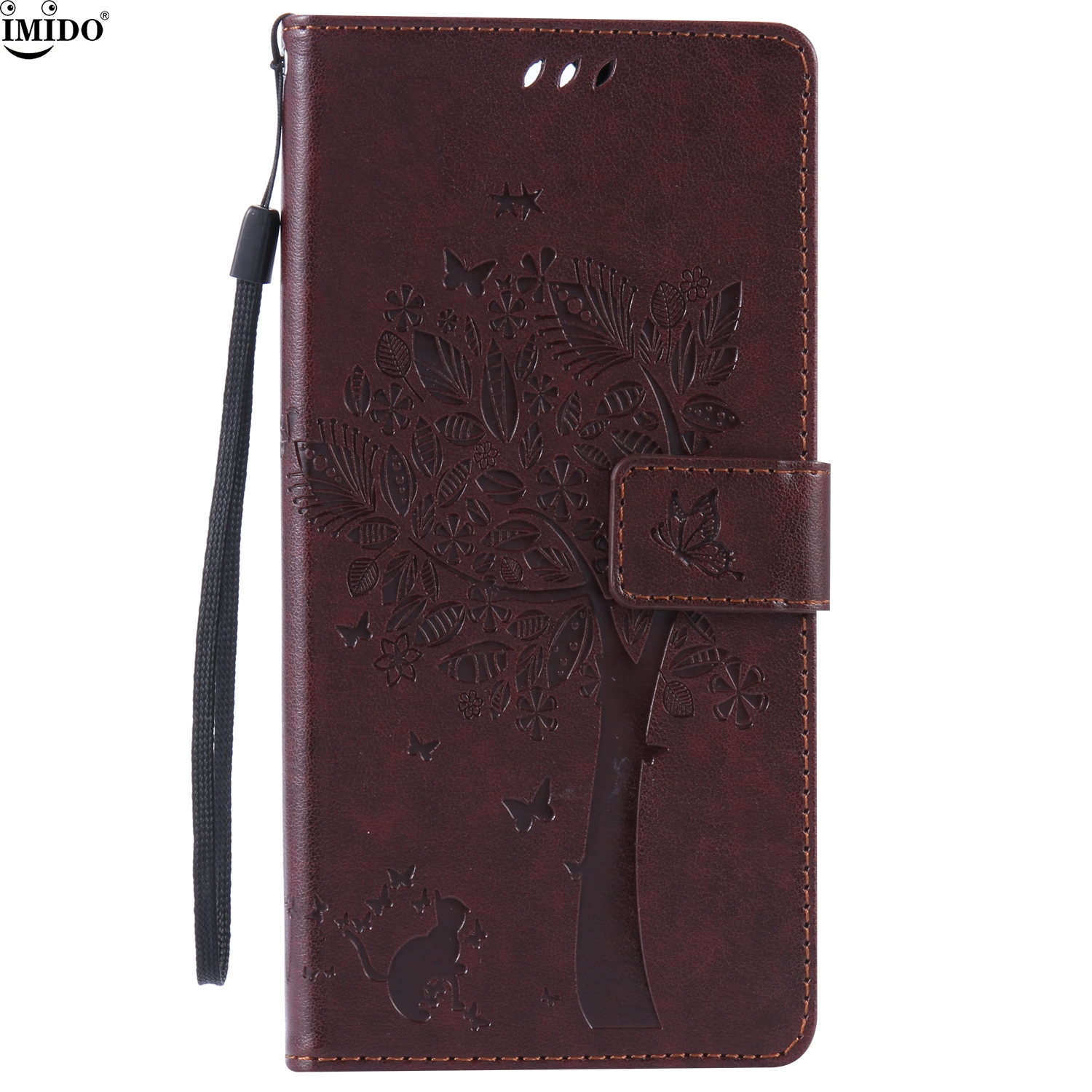 Flip Case For 6.0inch Sony Xperia C5 Ultra Dual Luxury Embossed Leather Wallet Case For Sony C5 Coque 6.0