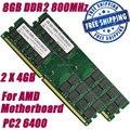 НОВЫЙ 8 Г 8 ГБ 2X4 ГБ PC2-6400 DDR2 800 800 МГц 240-КОНТ DIMM поддерживают только AMD Материнская Плата Настольного Памяти БАРАНОВ + Бесплатная доставка