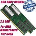 NOVA 8G 8 GB 2X4 GB DDR2 800 800 MHz PC2-6400 240pin dimm suportam apenas amd motherboard desktop memória ram + free grátis