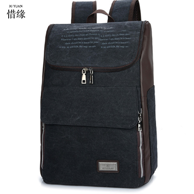 New Men Backpack Canvas Backpack Bags College Student Book Bag Large Capacity Fashion Backpack 15.6inch Laptop Bag chic canvas leather british europe student shopping retro school book college laptop everyday travel daily middle size backpack