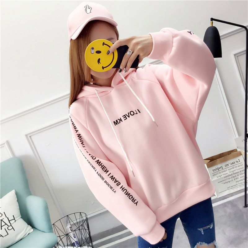 Womens Fashion Hoodies Sweatshirts Letters Long Sleeve Hoodie Sweatshirt Hooded Pullover Tops Blouse oversized hoodie