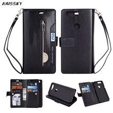 HAISSKY Oneplus 5 T One Plus 5t 5 T حافظة محفظة جلدية 10 حافظة بطاقات فاخرة عتيقة غطاء هاتف نقف حامل حقيبة واقية Coque