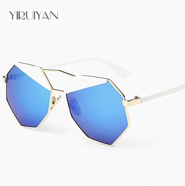 d4704f31e7ebd 5 pieces wholesale Sunglasses Women Mirror Glasses New Fashion Ladies  Sunglasses Luxury Geometry Twin-Beams Alloys Frame