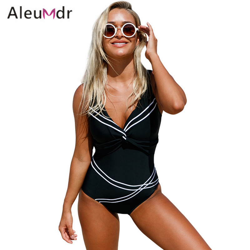 Aleumdr 2017 Sexy One Piece Swimsuit Women Plus Size Lace Up Back One Piece Swimwear Monokini LC410241 Traje De Bano Mujer brief candy color lace up one piece swimwear for women