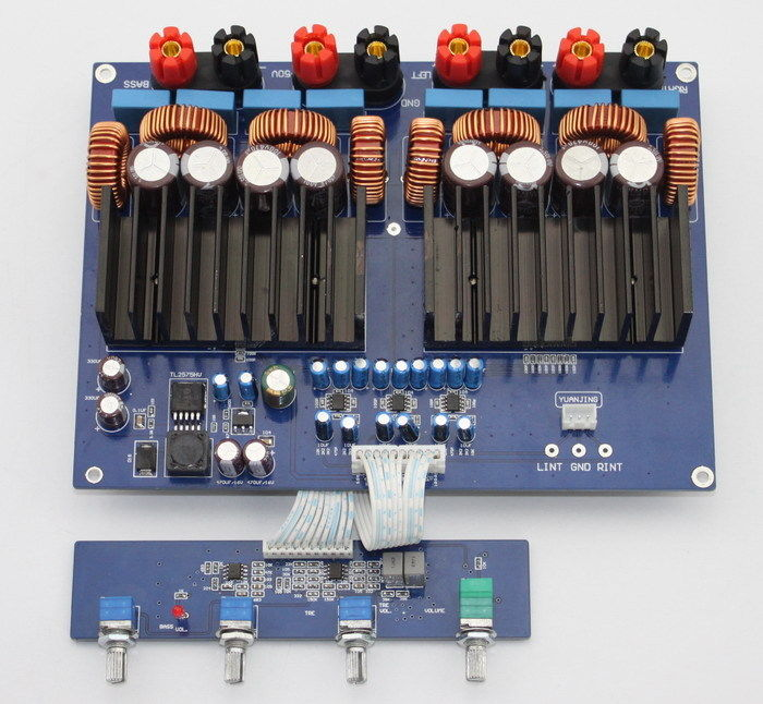 TAS5630 OPA1632 TL072 2.1 1200w Class D Digital Amplifier 330UF/100V*4