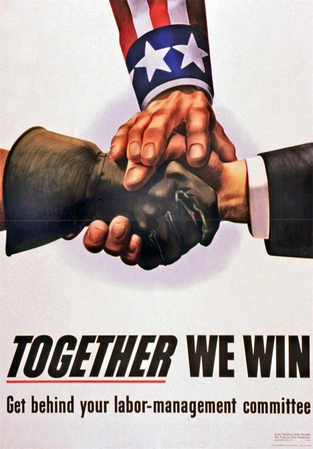 Together We Win Ww2 America Propaganda Poster Vintage Retro Posters