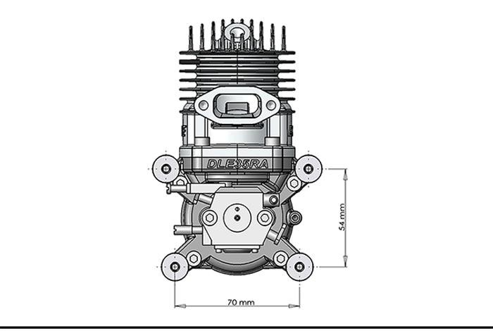 DLE30 30cc GAS Motor für RC Flugzeugmodell Einzelhub zwei Auspuff - Spielzeug für die Fernbedienung - Foto 6