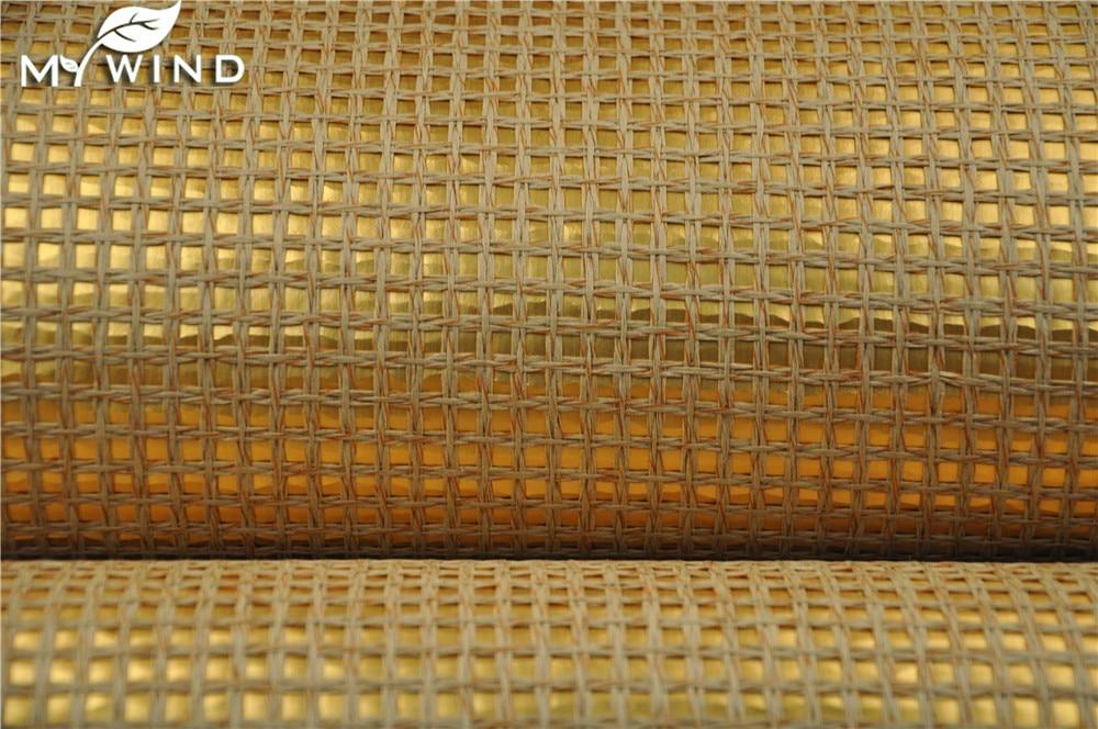 Золото обои обоев grasscloth дома природные текстурированные интерьера обои для Гостиная