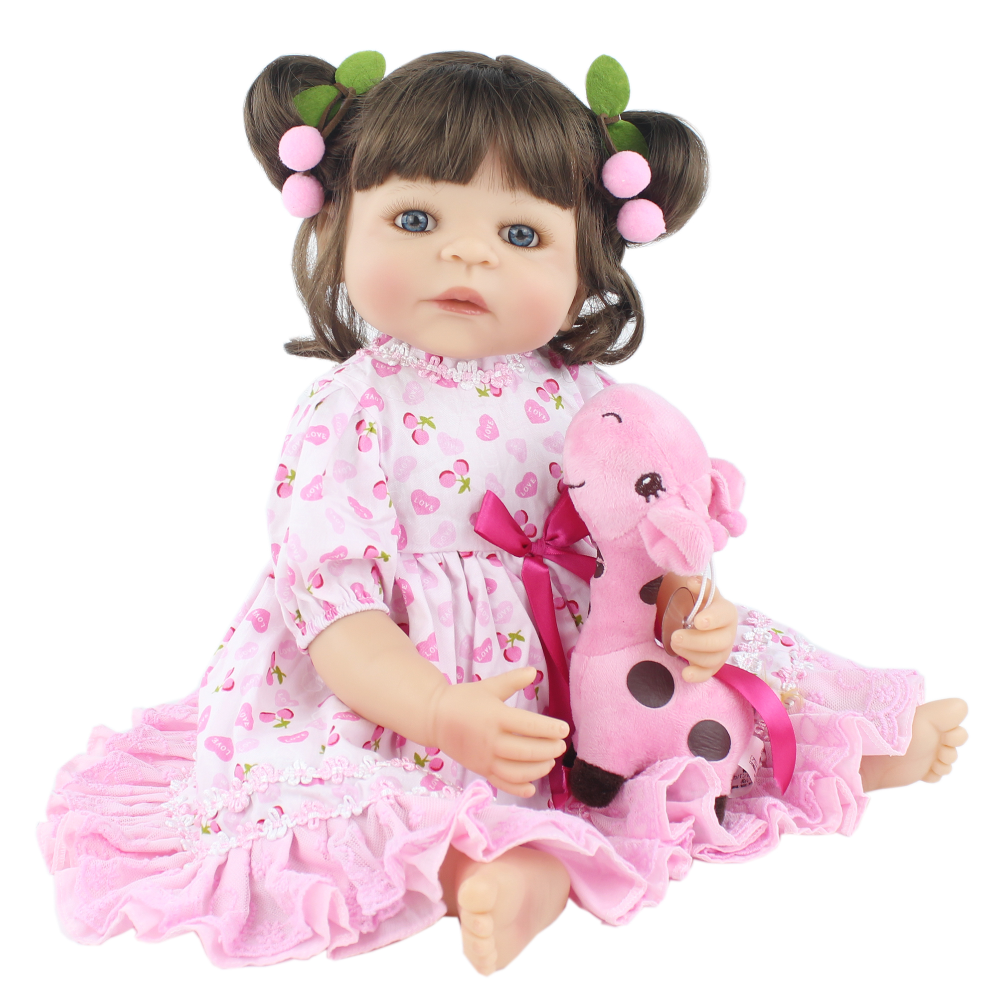 55cm Full Silicone Reborn Baby Doll Toy For Girl Newborn Princess Toddler Babies Realistic Classic Bathe Toy Kids Bebe Boneca