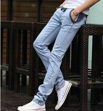 Мужская карандаш джинсы плюс размер 2016 Весна чистого хлопка кружева карандаш джинсы мужские Узкие джинсовые комбинезоны брюки boyfriend брюки